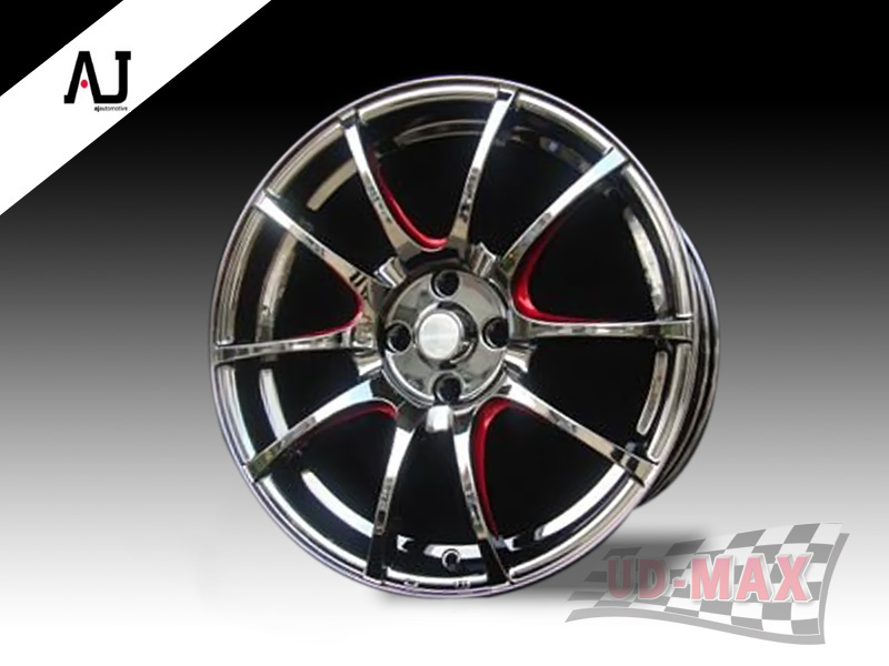 AJ SC032_update color Black Chrome/Red Trim