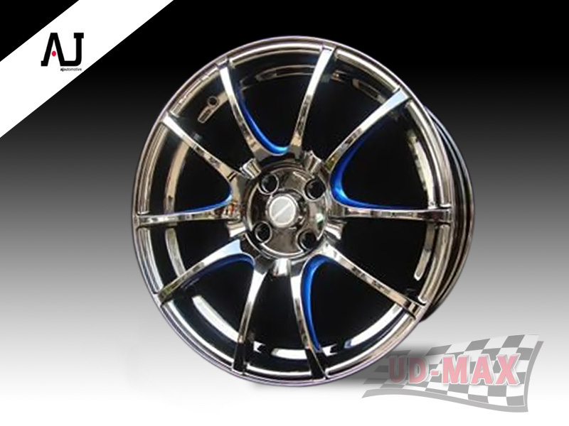 AJ SC032_update color Black Chrome/Blue Trim