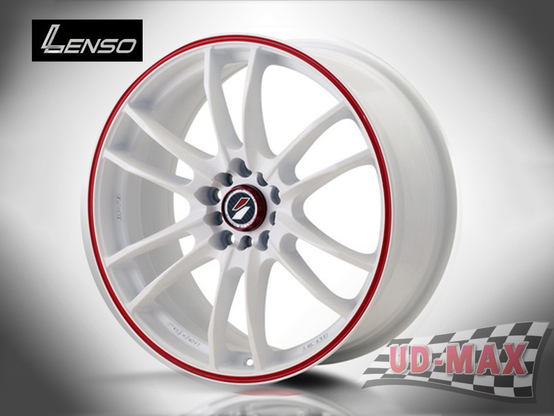LENSO Project-D8 color White / Red Line