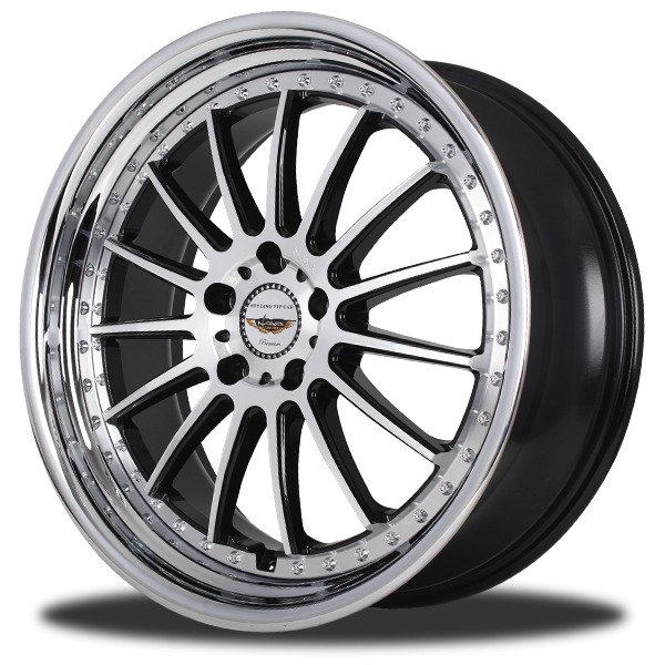 P&P Superwheels Finish color BKF-I, BK-I