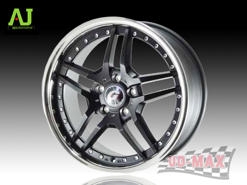 AJ INFORGED-IF4 color FLAT BLACK/STAINLESS LIP