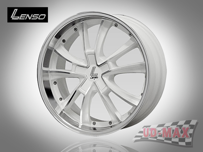 LENSO EURO STYLE 7_update color White with Full Face Polish & Mirror Lip