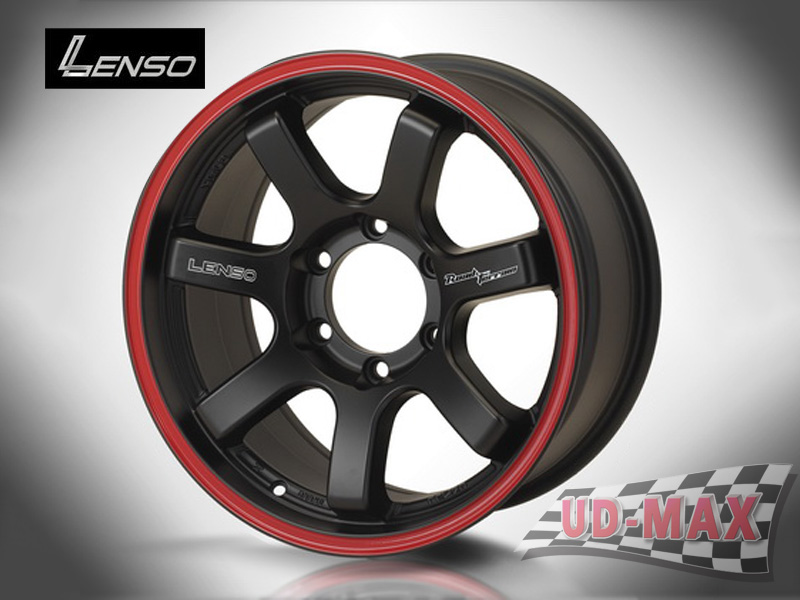 LENSO RT7_update color Matt Black / Red Line