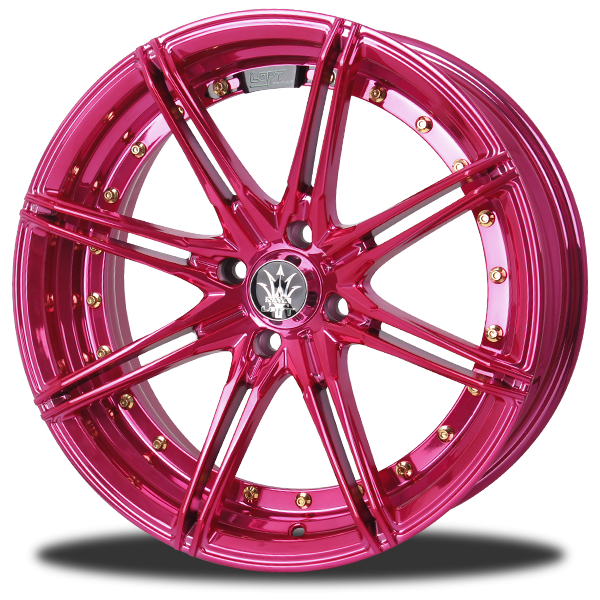 P&P Superwheels Rika Anodized color Blue, Pink