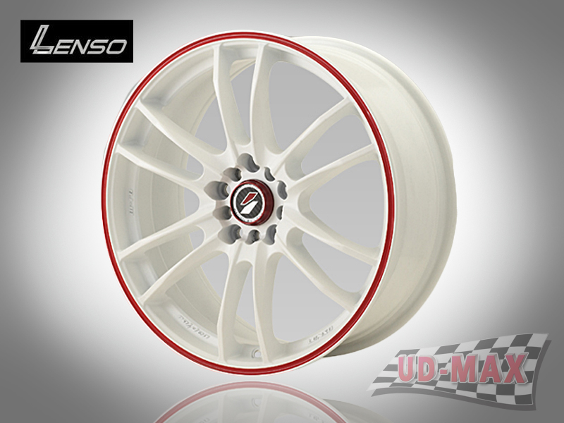 LENSO Project-D8 color White with Red Groove