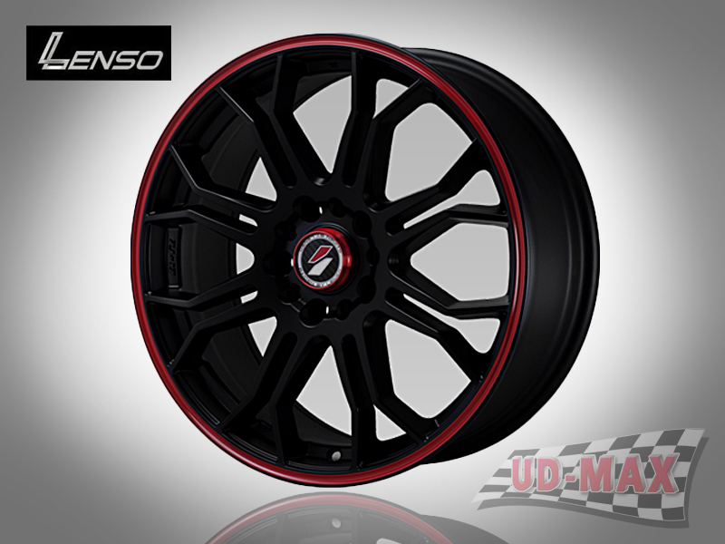 LENSO Project-D7 color Black with/Mirror Lip Polish & Red Groove