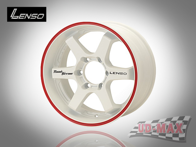 LENSO RT8 color White/Red Lip