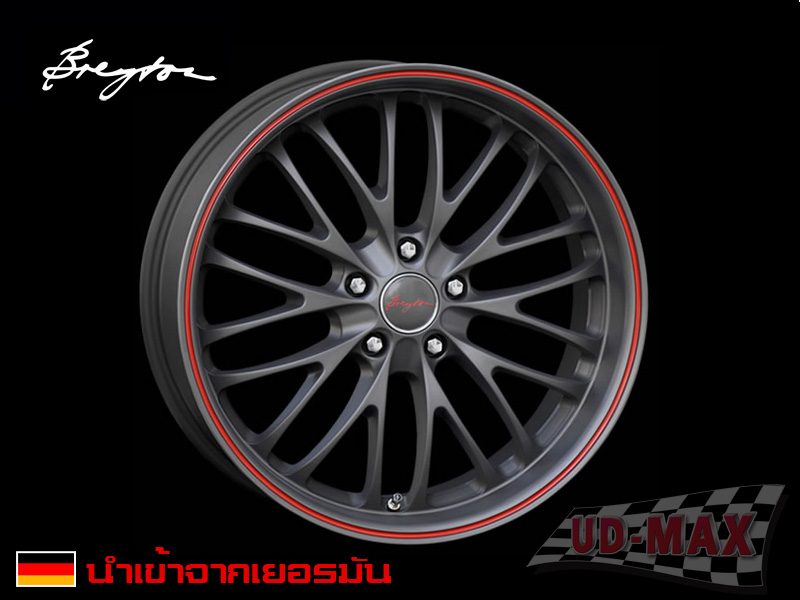 แม็กซ์รถ BMW Breyton_Race-CS color Matt Gun Metalic /Red Lip