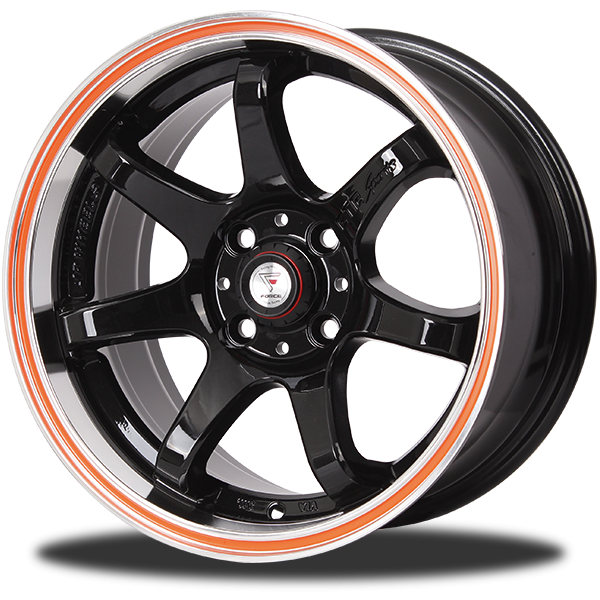 P&P Superwheels GTR-7 15Inch color MI-(OR-L)B-LP