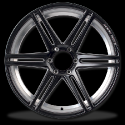 ��硫� P&P Superwheels Cosmis RaceBlack-6D